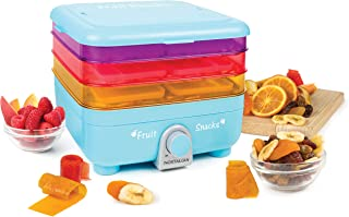 Nostalgia Organic Leather and Fruit Chip Snack Maker, Blue