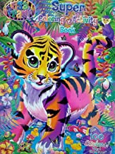 Lisa Frank Tiger Art Cover Coloring and Activity Book with 100 Stickers
