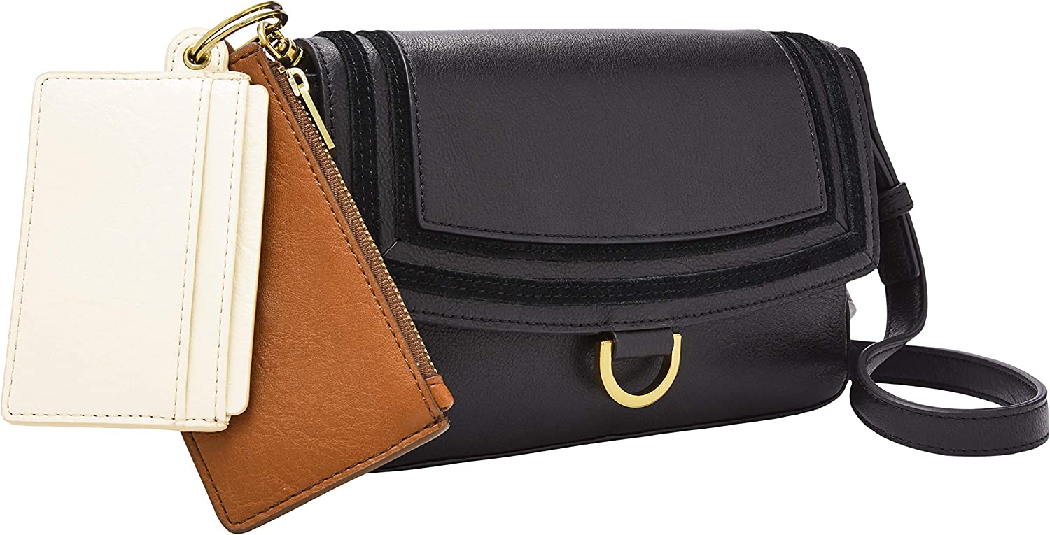 Fossil Women's Genuine Free Shipping Millie Leather Mini Bag With excellence Removab Purse Wallet