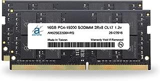 Adamanta 32GB (2x16GB) Laptop Memory Upgrade Compatible for Dell Alienware, Inspiron, Latitude, Optiplex, Precision, Vostro & XPS DDR4 2400Mhz PC4-19200 SODIMM 2Rx8 CL17 1.2v RAM DRAM