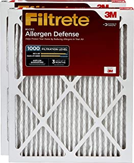 Filtrete 12x24x1, AC Furnace Air Filter, MPR 1000, Micro Allergen Defense, 2-Pack