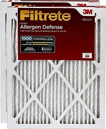 Filtrete 16x25x1, AC Furnace Air Filter, MPR 1000, Micro Allergen Defense, 2-Pack