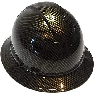 Hard Hat Ridgeline Full Brim Custom Gold Carbon Fiber