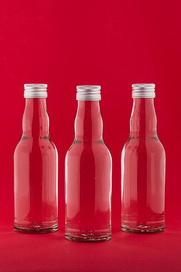 12 x 500ml leere Glasflaschen Maraska Likörflaschen Flasche 0,5 l Eckig ETIKETTE