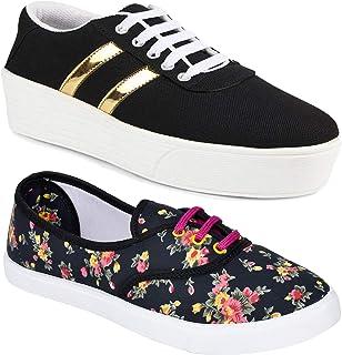 WORLD WEAR FOOTWEAR Women's Multicolor (1044-611) Casual Sneaker Loafer Shoes
