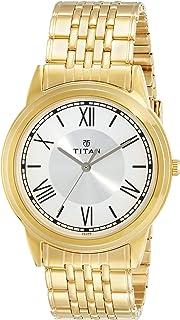 تيتان ساعة رسمية رجال انالوج بعقارب ستانلس ستيل - 1735YM01