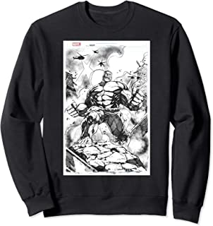 Marvel Hulk Comic Cover Sketch Sweatshirt