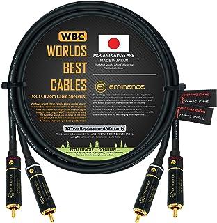 Cable de interconexión de audio direccional de alta definición de 3.5 pies, hecho a medida por WORLDS BEST CABLES, utiliza...