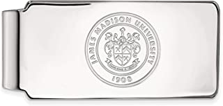 UM Sterling Silver w// 14K Yellow Gold-Plated LogoArt Official Licensed Collegiate University of Montana Money Clip Crest