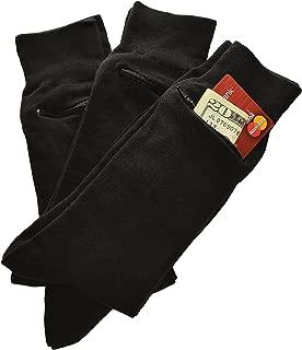 by Zip It Gear - Dress Socks - Men's (One Size Fits All), 3-Pack, Black