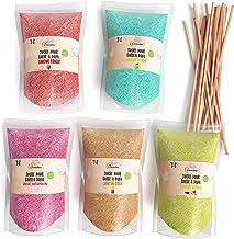 Greendoso-Sucre Barbe à Papa pour Machine, 5X160 GR (Arômes et Colorants Naturels) Fraise-Cola-Pomme-Marshmallow-Vanille +...