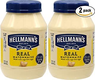 Hellman's Real Mayo Mayonnaise, Made With Cage Free Eggs, 30oz (Pack of 2, Total of 60 Oz)