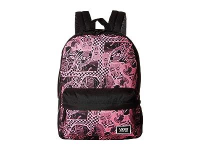 Vans Realm Classic Backpack (Azalea Pink/Vans Zine) Backpack Bags