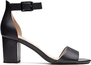 Clarks DEVA MAE Women's Fashion Sandals, Black Leather D, 7 AU