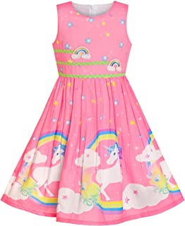 d32aaeee09d Sunny Fashion Girls Dress Rose Flower Double Bow Tie Party Sundress