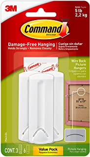 Best Command Wire-Back Hangers, Indoor Use, 3 hangers, 6 strips, Decorate Damage-Free (17043-ES) Review