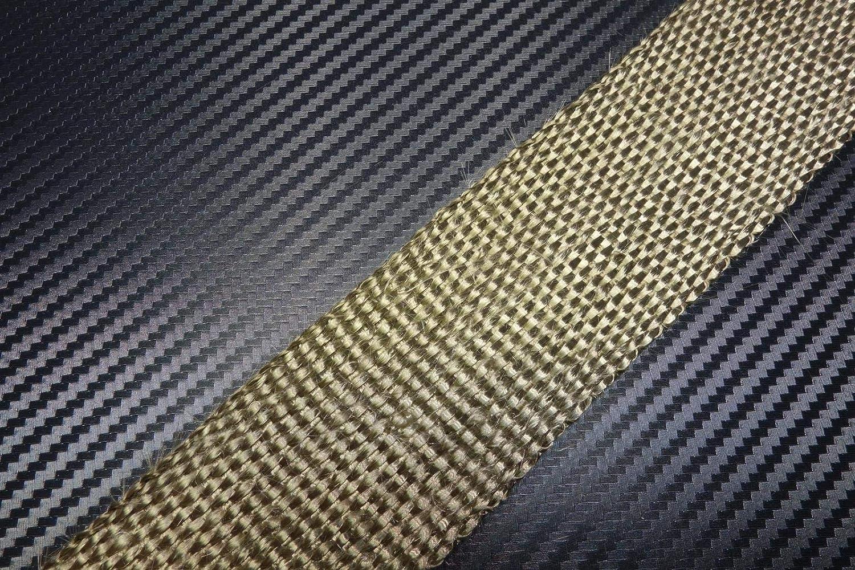 Schlauchland 10m Titan Hitzeschutzband 50mm 1400 C 10 Kabelbinder Auspuffband Thermoband Krümmerband Heat Wrap Basaltfaser Isolierband Hitzeschutz Garten