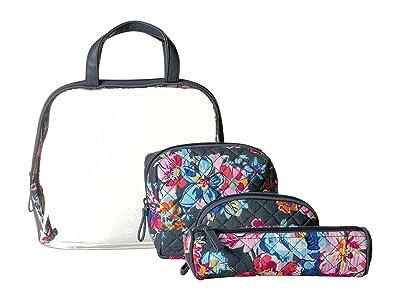 Vera Bradley Iconic Four-Piece Cosmetic Set (Pretty Posies) Wallet