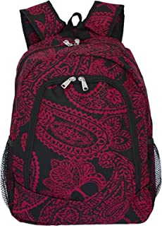 World Traveler Multipurpose Backpack 16-Inch One Size Black Pink Paisley