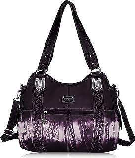 Angel Barcelo Roomy Fashion Hobo Damenhandtaschen, Damen Geldbörse, Umhängetaschen, Umhängetasche Tote, Gewaschene Lederta...