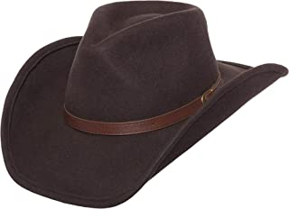 Shapeable Outback Cowboy Western Wool Hat, Dallas, Silver Canyon