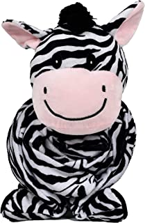 "SNUGGIES Zebra Stuffed Animal Blanket & Cuddly Pillow 2-in-1 Combo – Super Soft and Cuddly Baby Zebra Blanket 37"" x 30"" and Zoo Plush Toy 14"" x 8"" – Perfect Unisex Baby Shower Gift"