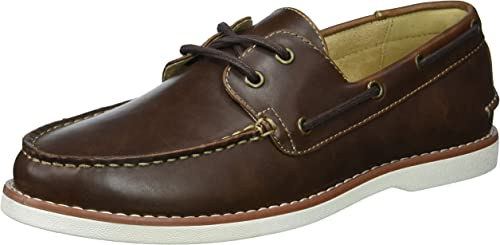 Unlisted by Kenneth Cole Men's Unlisted Santon Boat zapatos, marrón, 8.5 M US