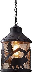 Park Designs Lighting Black Bear Pendant
