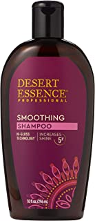 Desert Essence Smoothing Shampoo - 10 Fl Oz - Hi-Gloss Technology - Increases Shine 5x - Apple Cider Vinegar - Quinoa Protein - Tea Tree Oil - Retains Hair Moisture - Sulfate-Free
