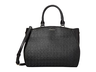 Fiorelli Demi Satchel (Black Emboss) Satchel Handbags