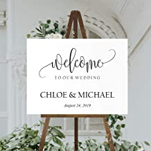 Best wedding welcome sign with stand Reviews