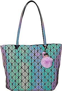 حقيبة يد هندسية مضيئة للنساء حمل حقيبة هولوغراف حقائب يد فلاش عاكسة حقيبة كروس للنساء