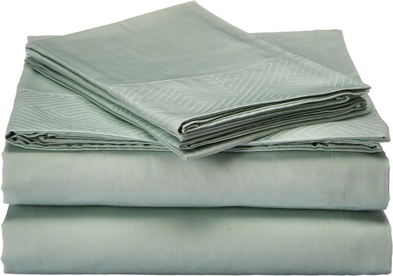 Natural Comfort HS300SS-EDGM-LTEA-Q Premier Hotel Select Sheet Set, Queen, Light Teal