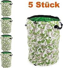 RAMROXX Gartentasche Laubsack Abfall Sack faltbar 76×67cm XXL 265L grün