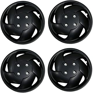 Tuningpros WC3-15-8083-B - Pack of 4 Hubcaps - 15-Inches Style 8083 Snap-On (Pop-On) Type Matte Black Wheel Covers Hub-caps