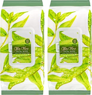 Body Prescriptions -2 Pack (60 Count Each) Tea Tree Facial Cleansing Wipes