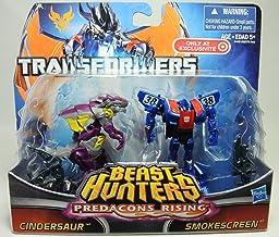 Transformers Beast Hunters Predacons Rising Cindersaur and Smokescreen 2 pack... by Hasbro