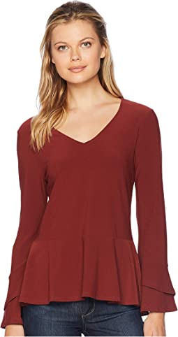 Long Sleeve Flared Top