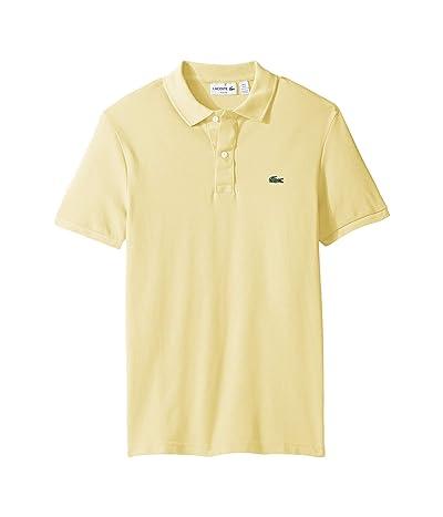 Lacoste Short Sleeve Slim Fit Pique Polo (Yellow) Men