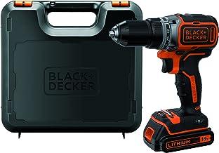 BLACK+DECKER BL186K-QW - Taladro Atornillador 18V Motor Brushless, Incluye 1 Batería de Litio 1.5 Ah, Cargador y Maletín