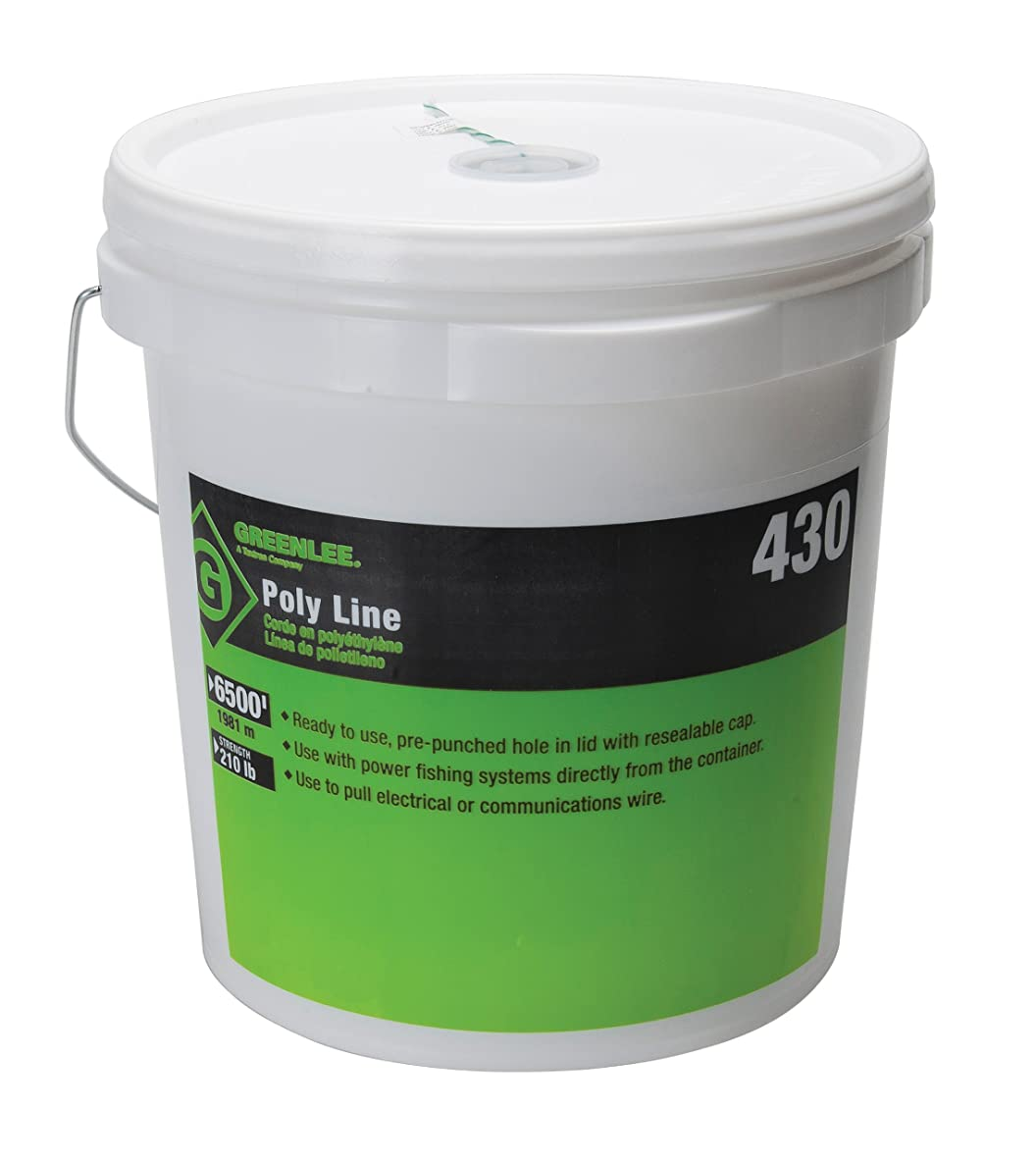 Greenlee 430 Poly Fish Line Tracer Green, 6500-Foot