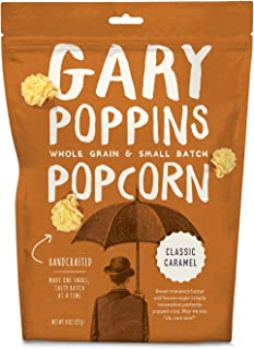 Gary Poppins Popcorn - Gourmet Flavored Popped Popcorn - 4 Pack Classic Caramel (8oz)