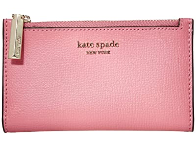 Kate Spade New York Sylvia Small Slim Bifold Wallet (Blustery Pink) Cosmetic Case