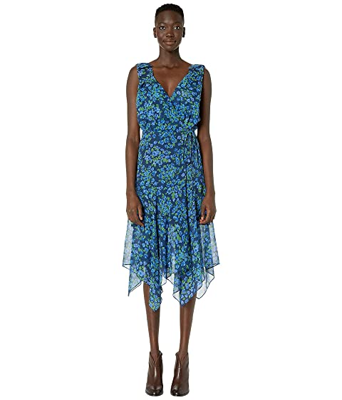 The Kooples Camelia Print Maxi Asymmetrical Dress