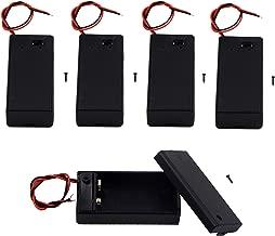 LAMPVPATH (Pack of 5) 9v Battery Holder, 9 Volt Battery Holder with Switch, 9v Battery Case with Switch