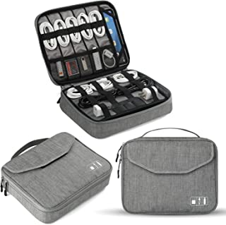 Electronics Organizer, Jelly Comb Electronic Accessories Double Layer Travel Cable Organizer Cord Storage Bag for Cables, ...
