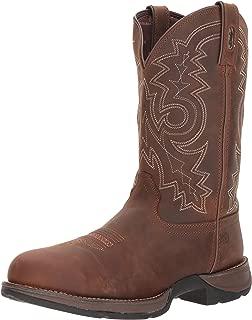 Durango Men's Rebel Steel Toe Waterproof Western Work Boot Mid Calf, Coyote Brown, 9 W US