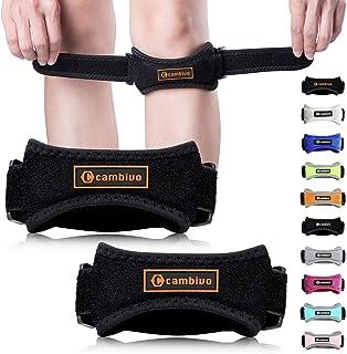 بند بند CAMBIVO Patella Knee، 2 Pack Pain Relief Knee Brace ، گروه پشتیبانی تاندون Patellar برای اجرای دویدن ، پیاده روی ، والیبال ، زانوی پرش ، تاندونیت ، آرتروز و ترمیم آسیب