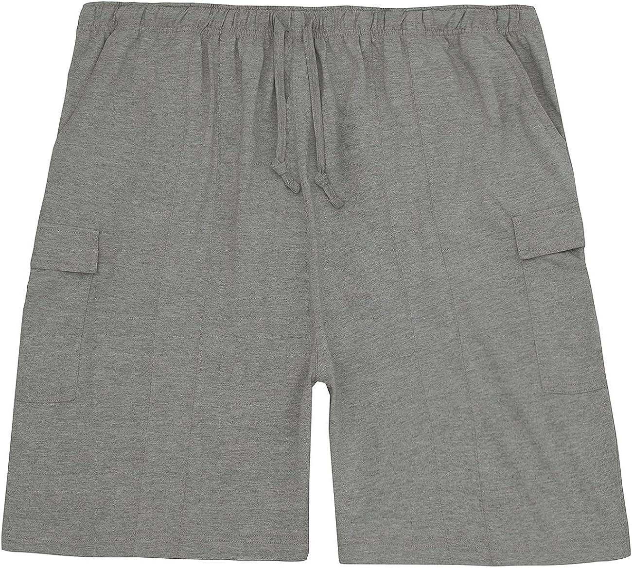 Sizes 3XL - 5XL Magneto Mens Jersey Shorts Elasticated Waist
