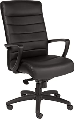 Eurotech Seating Manchester High Back Leather Chair, Black
